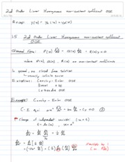 5-2nd Order Linear Homogeneous non-constant coefficient ODE