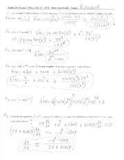 Math 150 Exam2-Solutions-Fall-2014
