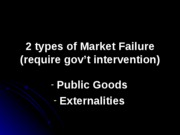2 types of Market Failure - academic