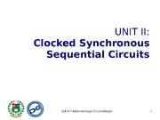 Unit II Synchronous Sequential Circuits