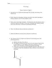 Review worksheet chapter 3
