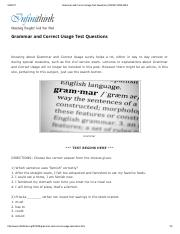 Grammar and Correct Usage Test Questions _ INFINITHINK