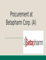 procurement at betapharm Procurement at betapharm corp (c) case analysis, procurement at betapharm corp (c) case study solution, procurement at betapharm corp (c) xls file, procurement at betapharm corp (c) excel file, subjects covered centralization control systems incentives management accounting sourcing by susan kulp, taylor randall source.