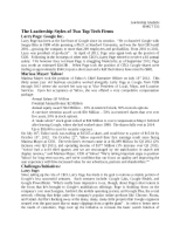 BMGT 335 Leadership Paper Sample