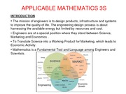 Applicable Mathematics 3S lecture notes