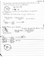 Notes On Triangles & Circumference