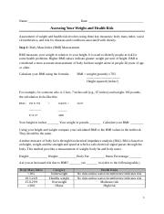Assessing Your Weight and Health Risk(1).docx