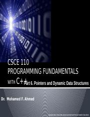 Pointers and Dynamic Data Structures