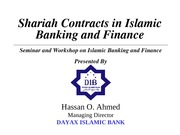 Shariah Contracts & Islamic Banking