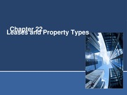Leases and Property types