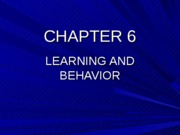 Chapter 6, Learning