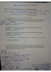 Wilcoxon Signed Rank Sum Test Matched Pairs Experiment Notes