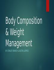 Body Composition & Weight Management.pptx