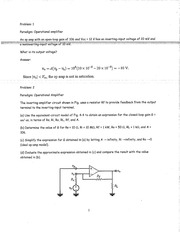 OPERATIONAL AMPLIFIER STUDY GUIDE WITH ANSWERS