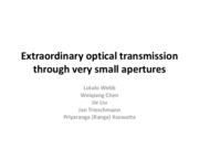 Lecture 14 - Extraordinary optical transmission through very small apertures (student presentation)