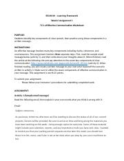 Week 3_Assignment 3_7C's Of Effective Communication Worksheet