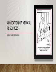 10 Allocation of medical resources