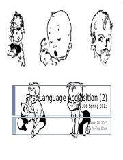 12. First Language Acquisition 2
