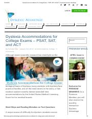 Dyslexia Accommodations For College Exams – PSAT, SAT, And ACT _ Dyslexia _ Dyslexic Advantage.pdf
