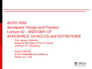 AERO 3002 2014-Lecture 02-Anatomy of Aerospace Vehicles-17Dec13
