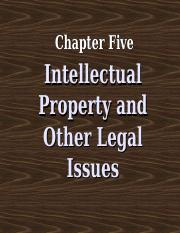 5th Chapter Intellectual Property and other Legal issues.ppt