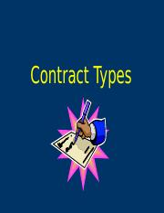 3 Contract Types