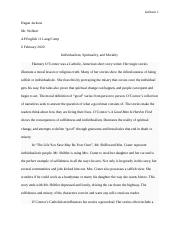 Final Independent Reading Project Interpretive Essay - A Good Man Is Hard To Find