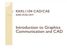KKKL1104 Lecture 02 Introduction to Graphics Communication and CAD (2013-09-09)