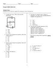 Exam 2 Spring 2014 on General Physics 2