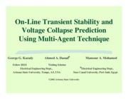 On-Line Transient Stability and Voltage Collapse Prediction Using Multi-Agent Technique