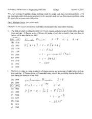 Fall 2011 Exam 2 Solutions