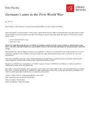 MT Week 3_Germany's aims in the First World War