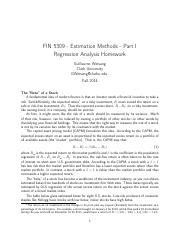 Hwk - Fall 2014 - Estimation - Part I - Regression Analysis - solutions.pdf