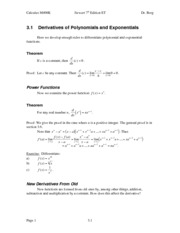 Calculus Notes 7E 3.1
