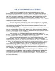 How to control emotions in Thailand (Eng)