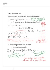 Fission & Fusion Notes