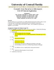 cgs 2060 assignment example Start studying cgs 2060c assignment #1 learn vocabulary, terms, and more with flashcards, games, and other study tools.