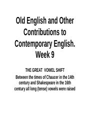 Ling111 Week 9 Old English and Other Contributions to Contemporary English (1).ppt