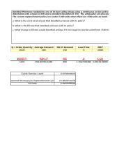 Assignment 1--Reorder Point and Fill Rate Assignment(1) KK