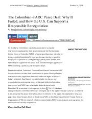 ana quintana-the colombia-FARC peace deal why it failed and how the US can support a responsible ren