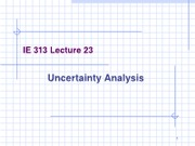 Lecture 24 (Uncertainty Analysis)