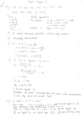 Statistics Sample Past Paper 3 Solutions