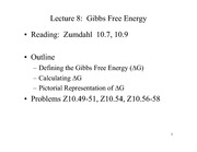 Lecture 8 on Gibbs Free Energy