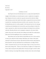 AP Lit Synthesis Essay for The Awakening .docx