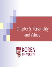Ch 5. Personality & Values.ppt