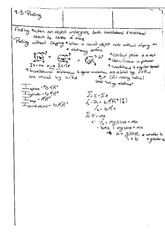 Physics - Rolling and Inertial Calculus (4-3 And 4-4)