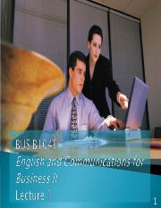 B104F Lecture 1 Communication Styles
