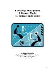 Knowledge Management & Transfer Model
