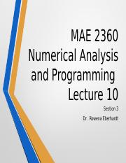 MAE 2360 : C CODE - University of Texas, Arlington - Course Hero