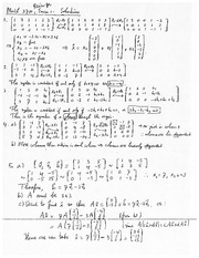Exam 1 Review Solution on Linear Algebra